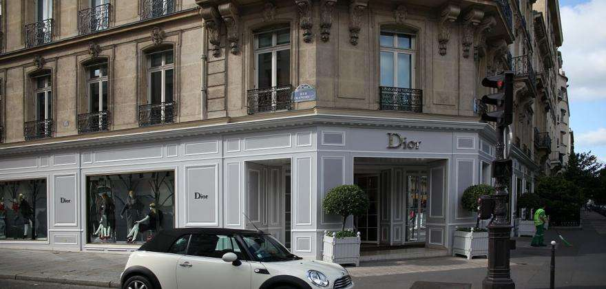 The heart of Parisian luxury; shopping on the Avenue Montaigne