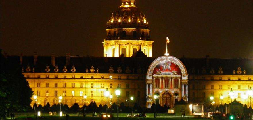 Night at the Invalides; a fascinating experience