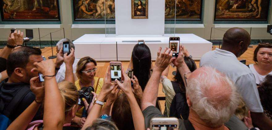 A major event; the Leonardo da Vinci exhibition at the Louvre